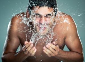 barbering med koldt vand